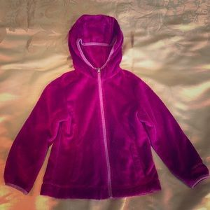 Little girl's size 4 fleece zip up hoodie
